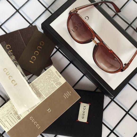 Womens Gucci Brown Sunglasses GU0015